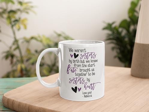Sister By Heart Purple Personalized Mug