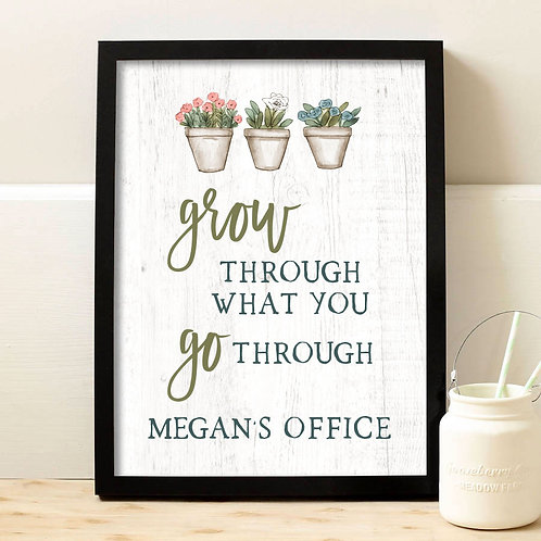 Plant Quote Office Wall Art