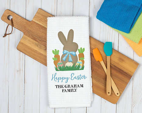 personalized happy easter towel
