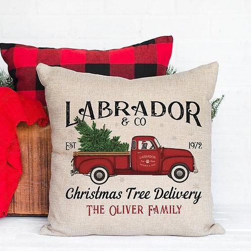 Labrador Christmas Pillow