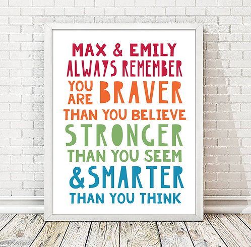 colorful motivational kids print