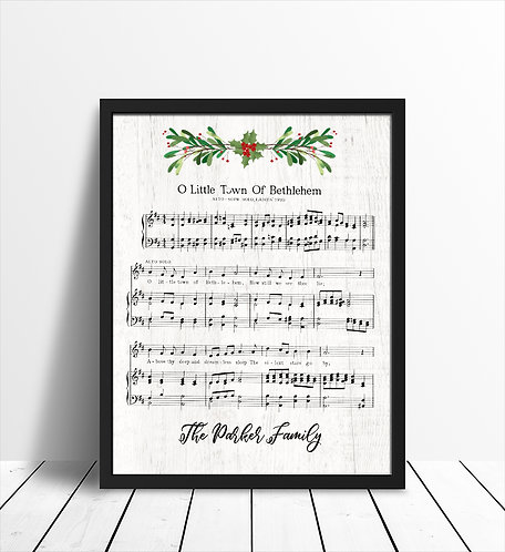 christmas time sheet music decor