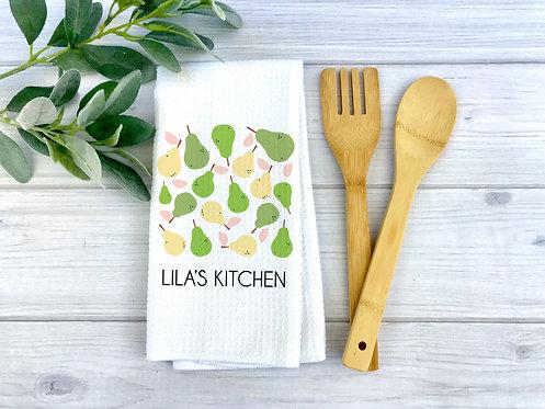 minimalistic pear dish towel