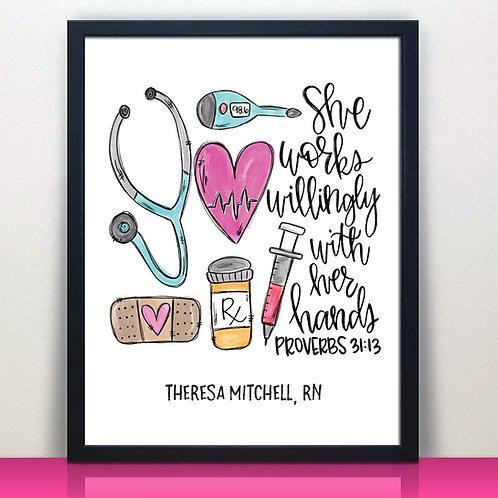 Nurse Bible Verse Print