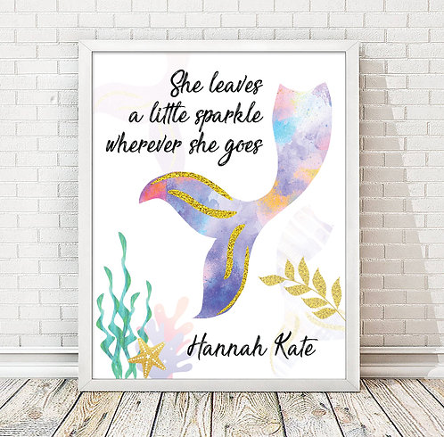 colorful inspirational mermaid print
