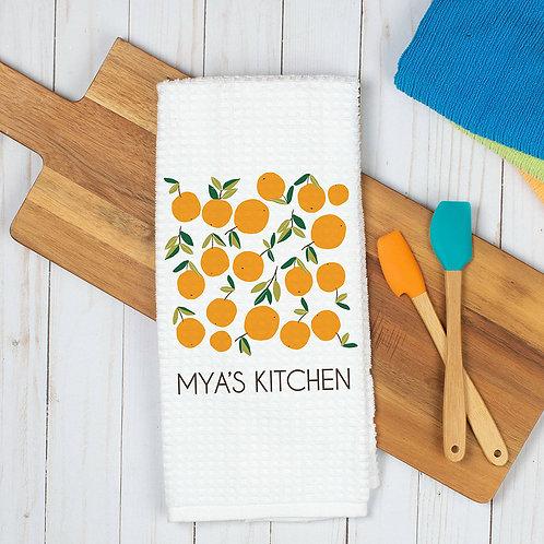 personalized orange towel
