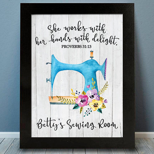 Sewing Room Bible Verse Print