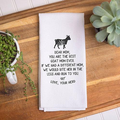 goat mom decor towel