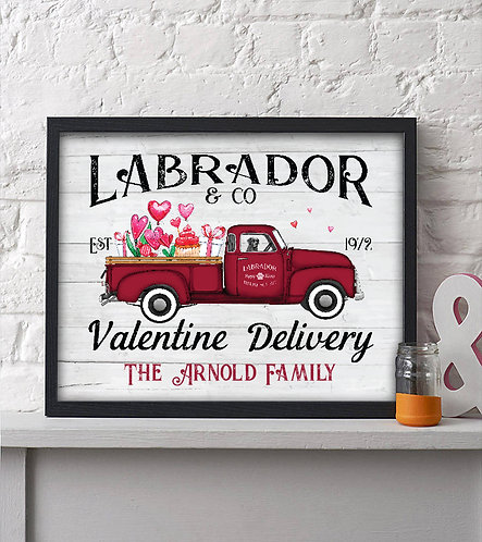 Labrador Valentines Day Print