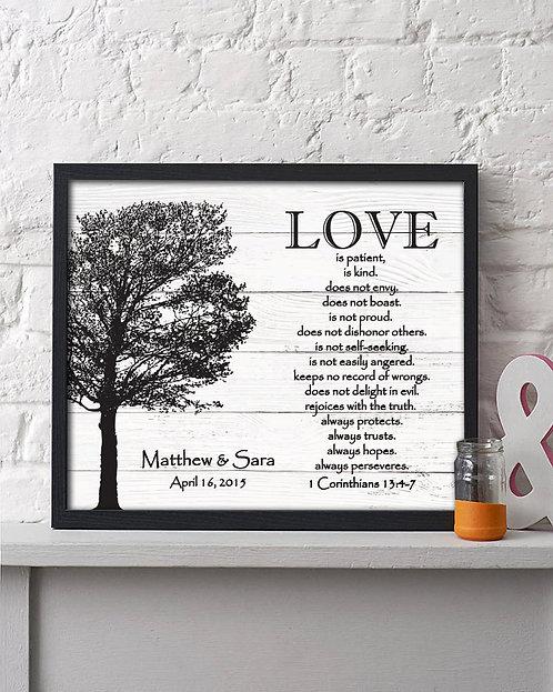 Love Is Patient Corinthians Anniversary Print
