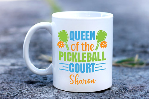 personalized queen of the pickleball court