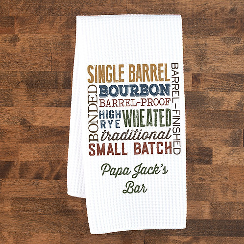 bourbon types collage towels