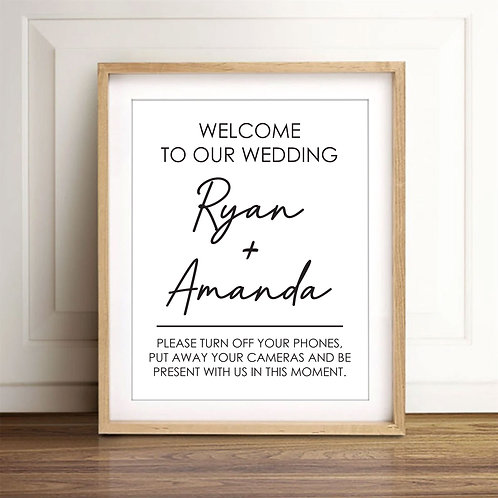 Welcome the our wedding poster