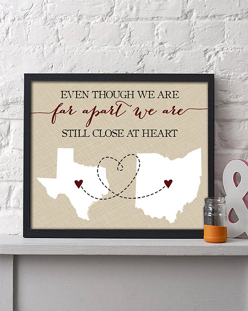 Two State Close at Heart Frame