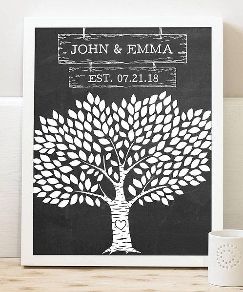 Tree Wedding Print