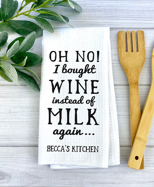 Funny Wine Towel