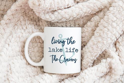 personalized living the lake life mug