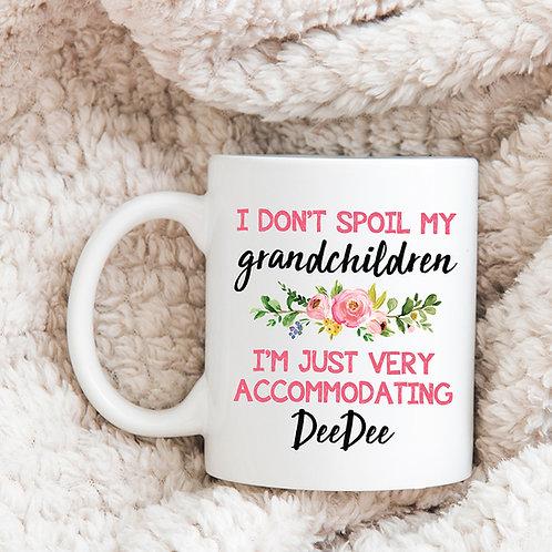 personalized floral mug for grandma