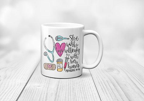 Nurse Bible Verse Mug