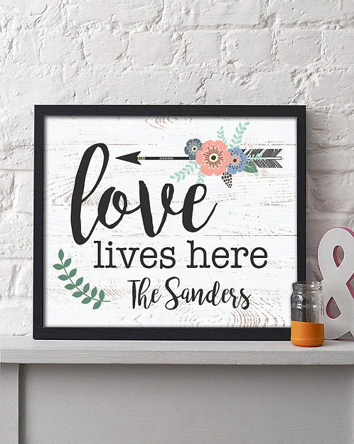 love grows here personalized print