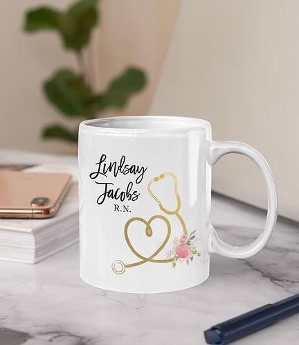 Personalized Nurse Mug