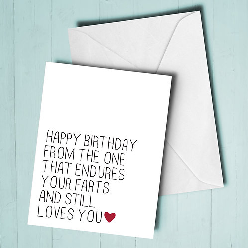 Funny Fart Birthday Card