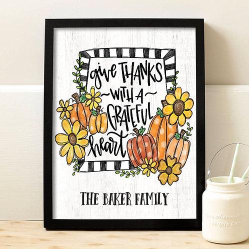colorful pumpkin fall print