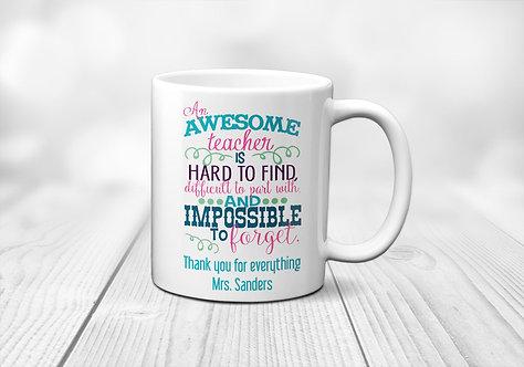 Awesome Teacher Personalized Mug