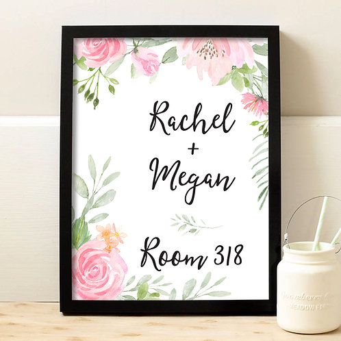 Personalized Dorm Room Decor Print
