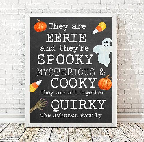 spooky chalkboard halloween sign
