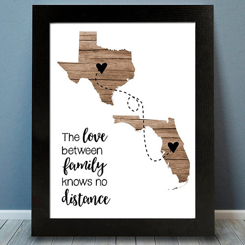 Two State Family Print