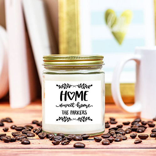 Personalized Home Sweet Home Candle