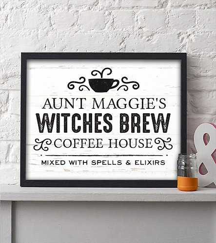 Witches Brew Coffee House Holiday Print