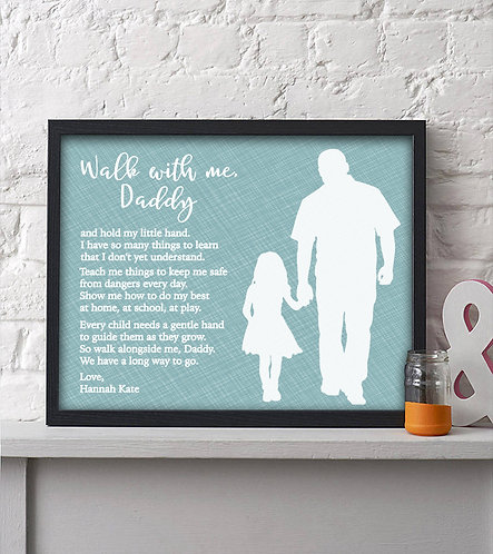 personalized walk with me print
