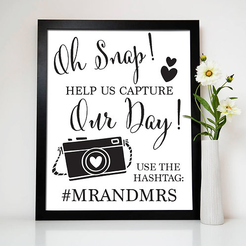 Help Us Capture Our Day Wedding Print