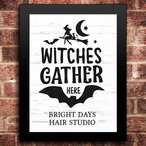 Witches Gather Halloween Print