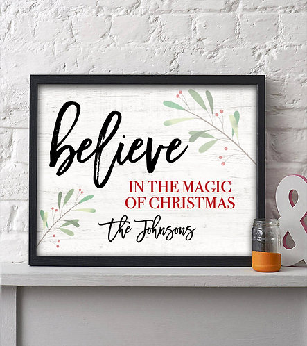 believe in the magic of christmas decor