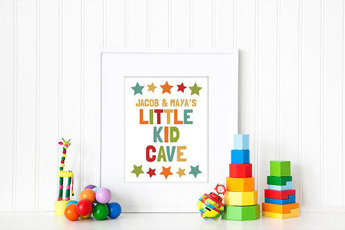 little cave kids playroom decor