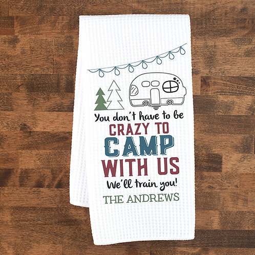 Crazy campers towel