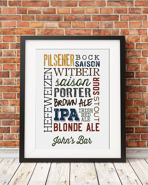 beer type collage