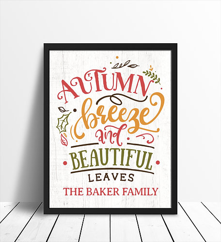 colorful fall print