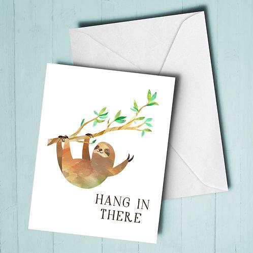 Hanging Upside Down Sloth Card