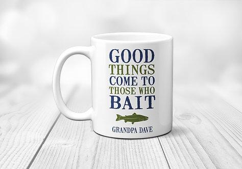 Dad Mug that incorporates Fishing