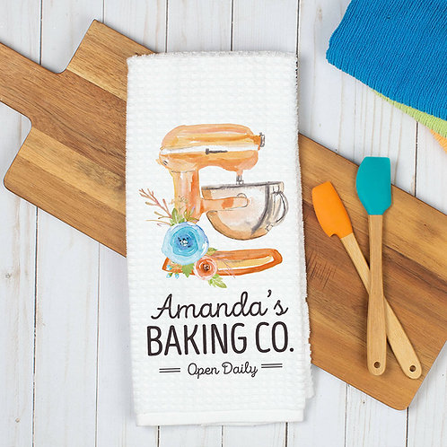 personalized baking co. dish towel