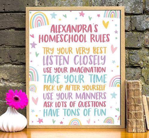 Homeschool rules print