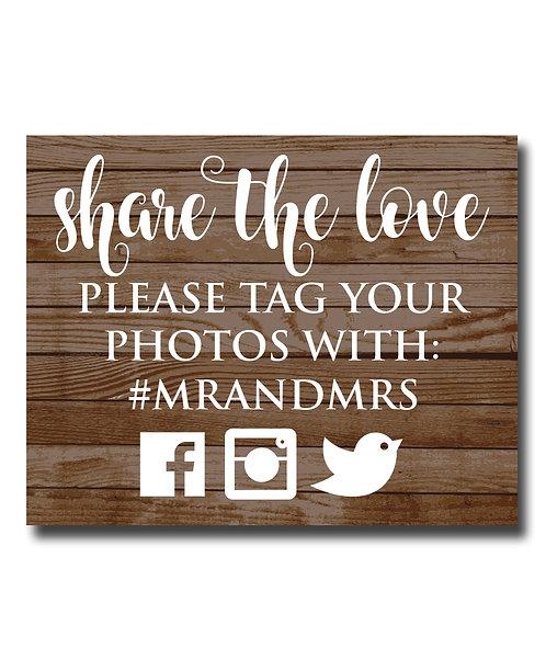 share the love social media print