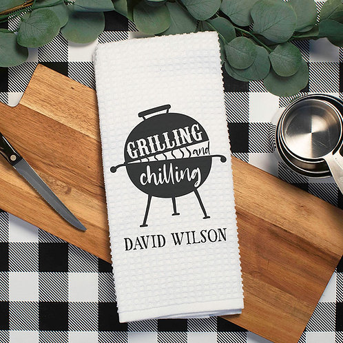 grilling and chilling kitchen towel