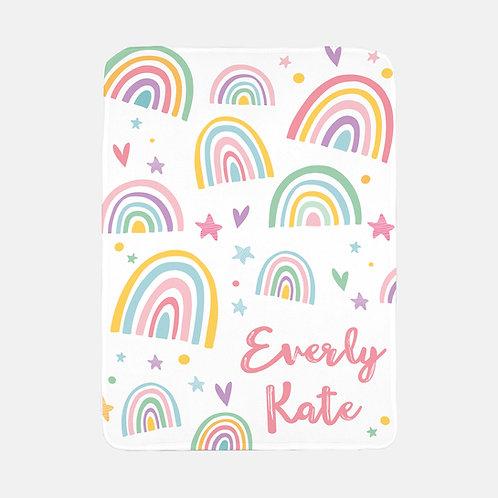 Customizable pastel rainbow blanket