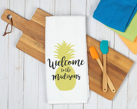 Summer Pineapple Personalized Towel