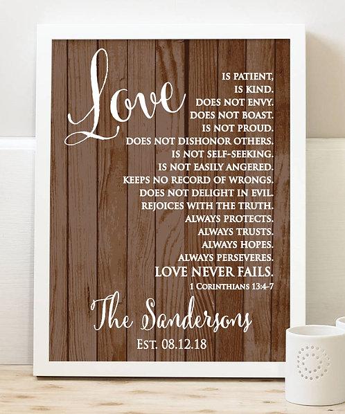 Corinthians Love Print